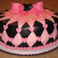 Pink Black Bridal Shower All fondant coverings- strawberry marshmallows for the pink fondant- tastes awesome!!