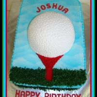3-D Golf Ball 9X13X4 All buttercream.