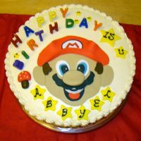Mario Bros Cake   Buttercream icing with fondant accents