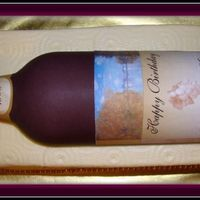 Mi First Wine Bottle Bottle made out of fondant with edible image lable.