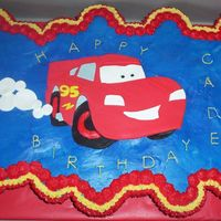 Cars Cupcake Cake   Cars Cupcake cake made of white and vanilla cupcakes.