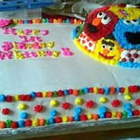 Sesame Street Practice Cake This was a practice cake for my daughter's first b-day. I tried to combine her two favorite things, Elmo and BALLS! It was fun, but I...