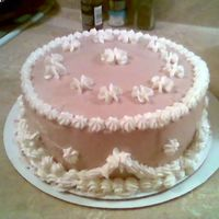 First Cake  I just started a Wilton cake class. I was so excited after the first lesson I had to try to make something. I used the WBH frosting and...