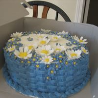 Flower Basket This is my second paid cake, its also only the 3rd decorated cake Ive ever made :O) Very proud of this one. I also made the flowers myself...