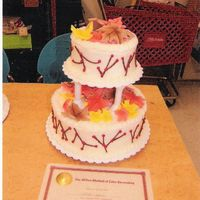 Course Iii Cake I wanted to do a fall theme on my course III cake and so I went with the leaves. Something I had seen on the website.