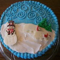Snowman Ck Done for a christmas party. Got it from the whimsical bakhouse book