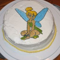 Tinkerbell Class Cake This is my first attempt at any cake. I'm taking the Wilton Course 1 and I love it. I know that I have ALOT of work to do, but it is...