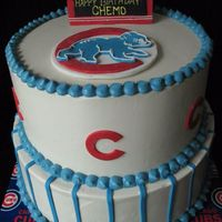 Go Cubbies! SMBC with fondant and gum paste decorations. This is probably one of my favorite cakes I've ever done