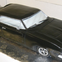 69 Charger following Mikes dvd instructions this is my attempt at this car cake for a groom. made using 2 12x18 cakes cut in half length wise and...