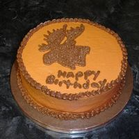 Moose A co-worker asked me to make a cake for her father-in-law's birthday. The only thing she said was that he really likes moose hunting....