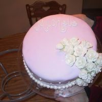 My First Time Fondant Rose Cake Okay, bare with me here. I am new to mmf I really like it alot especially that it's cheap to make!! Whoever thought up this idea is...