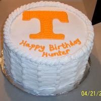 "University Of Tn 10"" round. All buttercream."