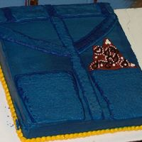 Denim Pocket 9 x 13. Buttercream icing. Done for Western theme day at school. (excuse the smear of blue icing on the border, one of our little ones went...