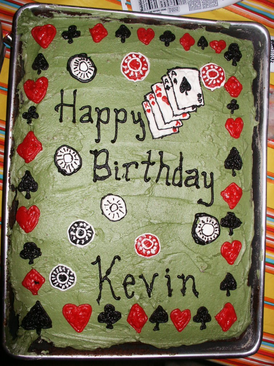 Kevin's Surprise Cake This was for my boyfriend's surprise party. I was very upset when his mother decided to buy a cake as well (because she was afraid a...