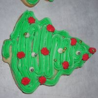 Christmas Tree Cookie butter cookies and buttercream frosting