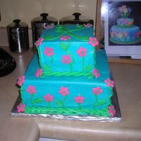Kelsie's 11Th Birthday Cake confetti cake, all-butter buttercream, fondant flower accents