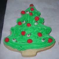 Tree Cookie butter cookie, buttercream