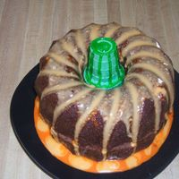 Pumpkin Cake I found this in a magazine. I made the orange glaze a little too thin, but other than that I think it turned out okay. It's just two...
