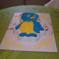 Backyardigans Pablo This is my first cake. It was for my son and daughters Backyardigan party. I couldn't find a cake anywhere to buy, so I went to a cake...