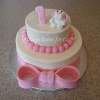 Pink Puppy Pink puppy Ist birthday cake. Buttercream with fondant accents. Thanks for looking!