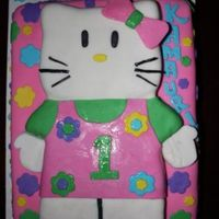 Say Hello Kitty! White cake with a strawberry filling. Covered in fondant with fondant decorations. Hello Kitty is RKT covered in fondant. Hope You like