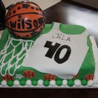 Jala's Basketball Cake for a little girl who play's basketball. Thanks for all the ideas from CC members.