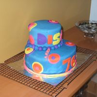 Back In The Day's 70's I did this cake for My 10 year old twin cousins Birthday. This is the First cake That I ever did. It is a chocalate cake with a cookie and...