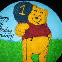 Winnie The Pooh I saw a cake on this site, which was my inspiration. This was my second customer order ever (yay!). Thanks for looking!