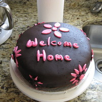 Welcome Home Cake Made this for my sister when she moved to a new apartment. Thanks for looking!