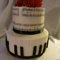Piano Birthday Cake Made for my Grandfather's 90th birthday as he has played and loved the piano nearly all his life. The music (Happy Birthday!) was hand...