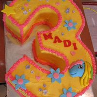 Three Shaped My Little Pony Birthday Cake Hand carved No.3, iced in buttercream with MMF accents :)