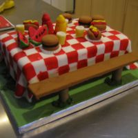 Picnic Cake This cake is from the Wilton Celebrate with Fondant book. It was my first time to make fondant sculptures. I had a lot of trouble with...