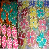 May Flower Cookies Here are part of the 200 May Flower Cookies.NFC with RBC frosting.First time using this type of frosting.