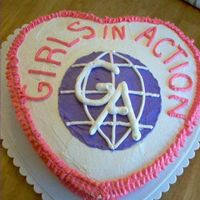 Girls In Action Cake Gas Made a cake for the GAs group at church.