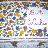 Best Wishes Cake Retirement party for a good friend.