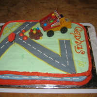 Construction Road construction cake