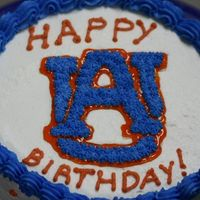Auburn Cake Made this cake for my boss's birthday. Being an Alabama fan myself it took a lot to do this cake :0)