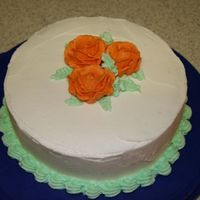 Wilton Course I Cake. All BC icing. I wasn't feeling really good that night so I kept it simple.