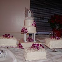 Samoan Wedding Side cakes were made as per tradition. 1 for the preacher, 1 for the groom's family, 1 for the bride's family.