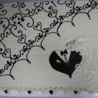 Black Lace I didn't get the chance to do the wedding cake but was asked to do the bridal shower cake. I wanted it to be inpressive and did a...