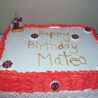 Spiderman simple spiderman cake.