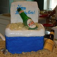 Beer Cooler After seeing the sugar beer bottles others have made on this site, I couldn't wait to make my own. I made this cake for my husband&#...