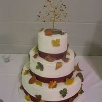 """falling In Love"" Wedding Cake This is a cake that I worked on with jaswift. She did all the hard work (baking, dishes, etc.) I just helped with decorations and setup. We..."