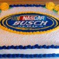 Busch Series Cake This cake was my first buttercream transfer. I made it as a practice and sent it with one of my friends who works for the busch series.