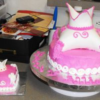1St Birthday Princess Cake This is a 1st birthday cake for a friend's little girl. Her mom wanted a princess theme so this is what I came up with. I was going to...