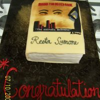 Behind The Devil's Back Book Cake A new rising author had her book signing here in Atlanta and wanted a cake for the celebration. This was a replica of the book made out of...