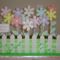 Planter Box With Daisies I made this cake for a baby shower. It was a lot of first for me. First time using MMF (pickets for the fence), first sugar cookies, first...