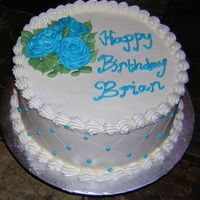 Blue Rose Birthday Cake  Hello :) This is a lemon cake with alternating raspberry and lemon curd filling and vanilla buttercream. This was my first attempt doing a...