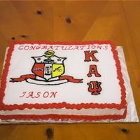 Kappa Alpha Psi Lemon cake with whipped lemon buttercream icing. First time I did a FBCT and it worked out well (I think).