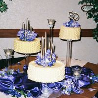 Purple And Gold Basketweave french vanilla with lemon filling; chocolate with chocolate and marble with vanilla